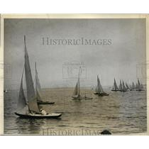 1931 Press Photo Star Class boats in Annual New Roche;; race in NY - nes46295