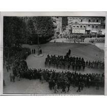 1934 Press Photo Funeral of slain King Alexander of Jugoslavia in Marseille