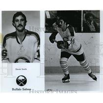 1977 Press Photo Derek Smith of Buffalo Sabres hockey team - nes46059