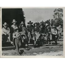 1938 Press Photo Group of Dude Wrangles worked at the Ranch - neb69263