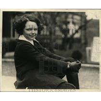 1923 Press Photo Miss Helen McCann of New York  in Hot Springs Virginia
