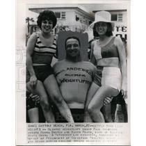 1964 Press Photo Daytona Beach Olympic Weight Lift Champ Paul Anderson