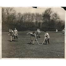 1931 Press Photo Women's Hockey game bet Bryn Mawr College & All Philadelphia