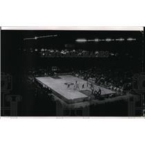 1970 Press Photo The view from top seats in Milwaukee Arena basketball game