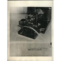 1923 Press Photo Alphabet Machine and a sample of code system transmitted
