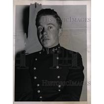1936 Press Photo Midshipman William Beekman Near at Annapolis Naval Academy