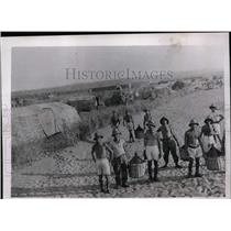 1935 Press Photo Italian troops at northern front line camp in Ethiopia