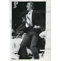 1973 Press Photo Portland Trail Blazers Coach Jack McCloskey During Game