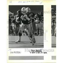 1987 Press Photo Kevin Wolfolk's Speed Has Made Him A Natural Linebacker