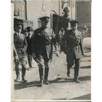 1930 Press Photo General John J Pershing leaving a military convention