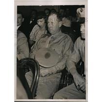 1935 Press Photo Pvt John Whitmore USMC at coroner's jury in DC