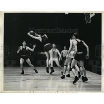 1936 Press Photo Frann Evanowski, Wilmerding YMCA Olympic Basketball Team