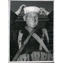 1943 Press Photo Joseph Storek of 14th Battalion of Seabees home from WW I