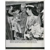 1952 Press Photo General Matthew Ridgway, wife & son Matty in San Francisco