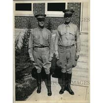 1933 Press Photo Colonel Richard Williams USMC, Lt Col R Henney at Quantico VA