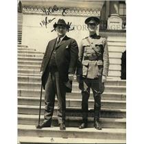 1922 Press Photo VA Governor E Lee Trinkle & Colonel Hiram M Smith