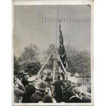 1932 Press Photo Philadelphia Navy yard vets of Spanish American war