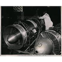 1951 Press Photo General Electric's Advance J47-Turbo Jet for Military Planes
