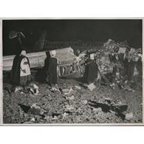 1938 Press Photo Swiss Airline Plane Crashes Near Paris 3 Dead 14 Hurt