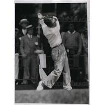 1935 Press Photo Jack K Yusuda of Japan at National Open golf at Oakmont PAq