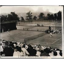1931 Press Photo Bill Tilder vs Karel Kozelugh at Philadelphia tennis match