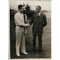 1930 Press Photo Joseph Wear US Davis Cup committee & Dr Joe Wright of Canada
