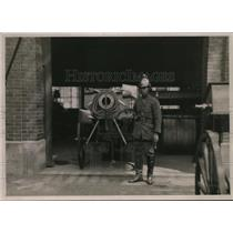 1912 Press Photo Japanese Fireman