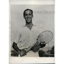 1932 Press Photo Juro Randin at Davis Cup tennis between Cuba & Australia