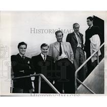 1946 Press Photo Swedish tennis team in NY Torsten Oernberg, Lennart Bergelin