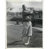 1932 Press Photo Golfer Willie Kline at Hillcrest Country Club on Long Island