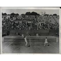 1934 Press Photo Wightman Cup tennis Alice Marble, Marcel Bernard