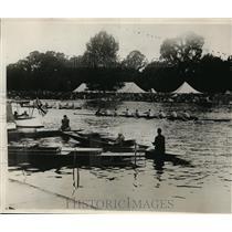 1929 Press Photo Columbia University crew wins vs Kingston in England