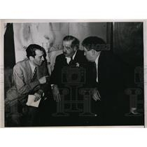1938 Press Photo V Toledano L Jouhaux John Lewis International Labor Conference
