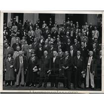 1933 Press Photo William Green F Morrison Mrs Rowan American Federation of Labor