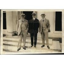 1920 Press Photo Leading Democrats Palmer, Morris & McCormick at White House