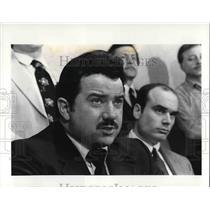 1984 Press Photo Joseph James at the Police News Conference - cva25184