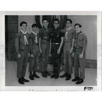 1967 Press Photo Boy Scouts for the Ner Tamid Award - cva20249