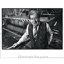 1988 Press Photo Marvin Hecht President of Midwest Box Co. Walford Ave.Cleveland