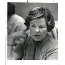 1982 Press Photo Mrw Georgina Gordon, Northern Ire, Londonderry, Widows' Mite