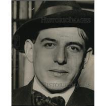 1916 Press Photo Louis Bianchetti, notorius hotel murder of Dolores Evans