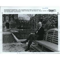 1987 Press Photo Robert McCormack Adams sitting in the Enid A. Haupt