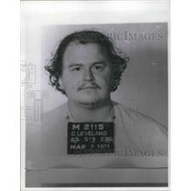1971 Press Photo Mug shot of Robert Draeger, motorcyclist indicted - cva10037