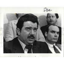1984 Press Photo Joseph James at the Police News Conference - cva25183