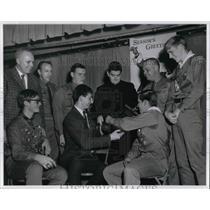 1969 Press Photo Boy Scouts at St. Clement's Church - cva21734