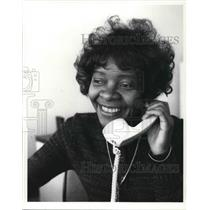 1980 Press Photo Mrs. Emma Jones talking on the phone - cva24964