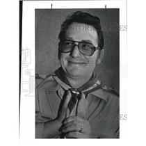 1982 Press Photo Edward L. English, scoutmaster of Troop 49 - cva13258