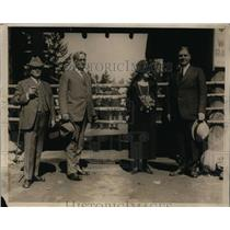 1926 Press Photo 4 Governor's Moone, Erickson, Ross & Dern at Yellowstone Park