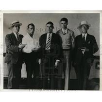 1932 Press Photo Jack Ligget & Carl Wittengton Arrested for Kidnapping