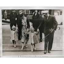 1934 Press Photo Prince Olav and Princess Martha of Norway visit her Swedish fam