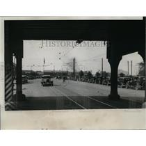 1934 Press Photo Main entrance to largest steel mill in Gary, Ind during strike